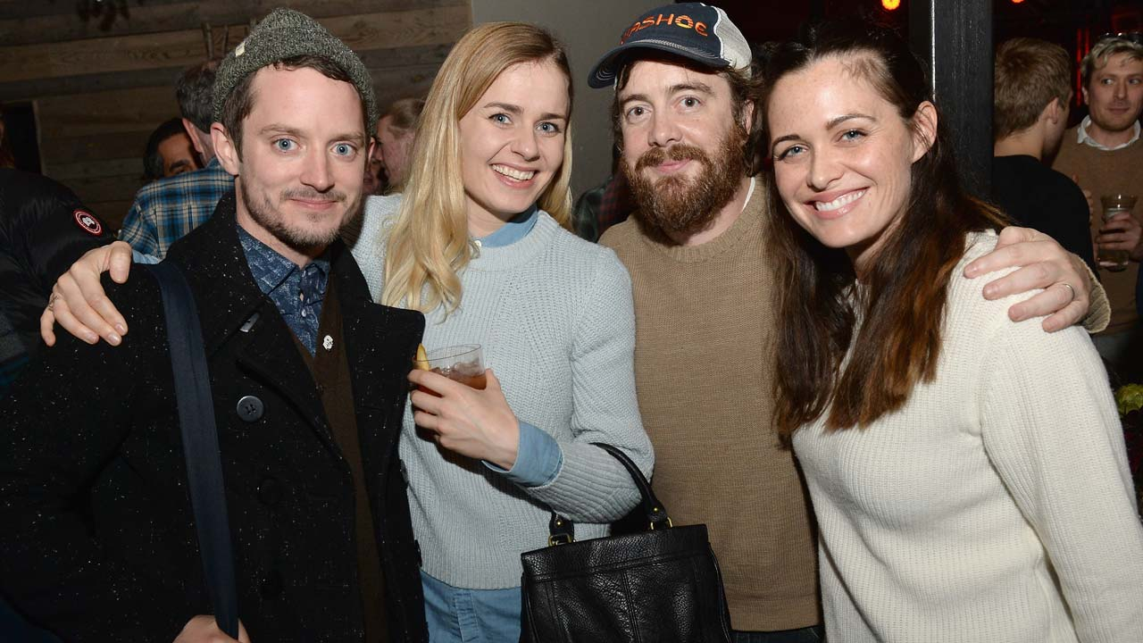 PARK CITY, UT - JANUARY 22: Elijah Wood, Metta-Marie Kongsved, Macon Blair and Christine Woods attends the Netflix Celebrates The Sundance Film Festival on January 22, 2017 in Park City, Utah. Gustavo Caballero/Getty Images for Netflix/AFP Gustavo Caballero / GETTY IMAGES NORTH AMERICA / AFP