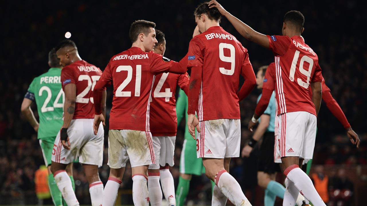 03a551411ee Ibrahimovic treble downs Saint-Etienne in Europa League
