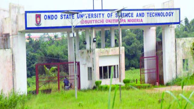 The labour unions in the Ondo State University of Science and Technology (OSUSTECH), Okitipupa have begun an indefinite strike action because of government's failure to meet their demands.