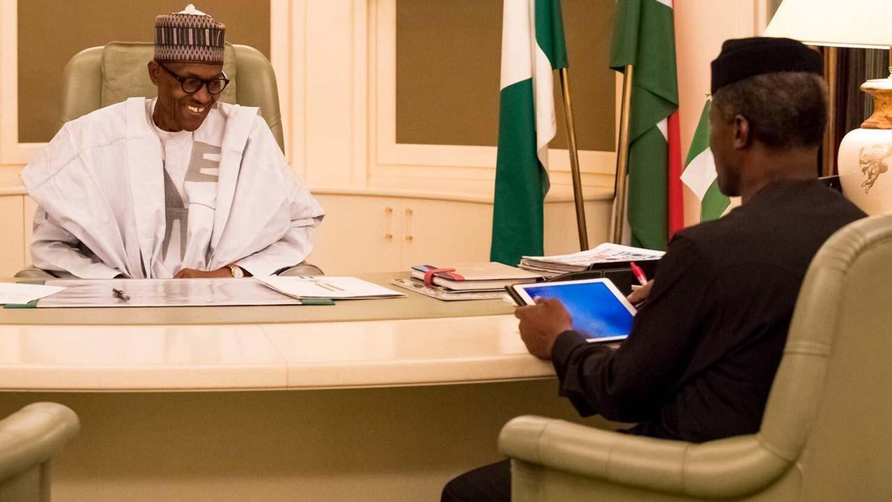 Osinbajo holds secret meeting with President Buhari in London