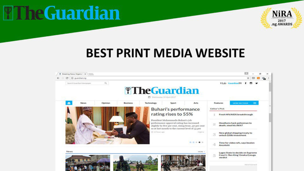 The Guardian wins .ng award for the best print media ...