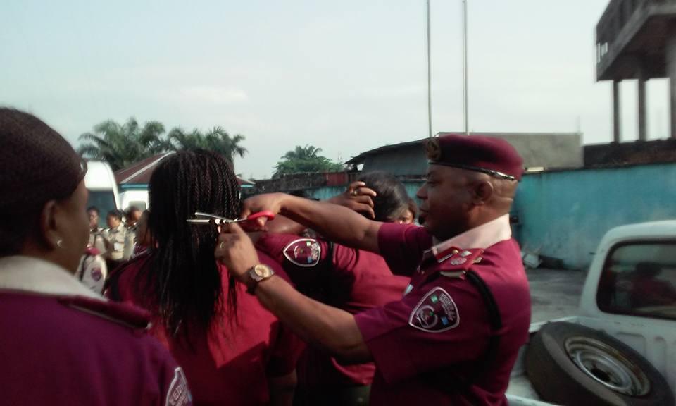 FRSC recalls sector commander for cutting hair of female officials