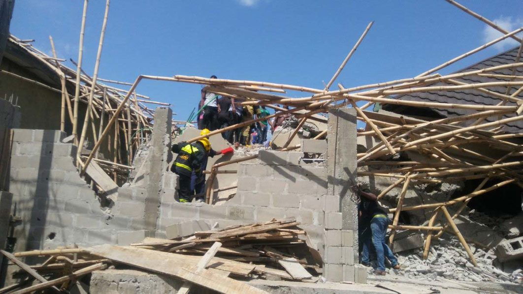 3-Storey building collapses in Lagos, 2 dead, 14 rescued