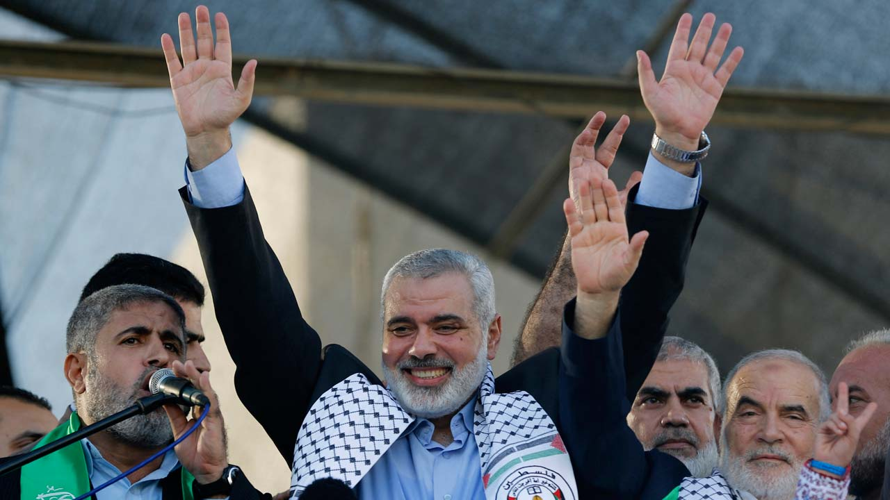 Hamas says Ismail Haniyeh chosen as Islamic group's leader class=