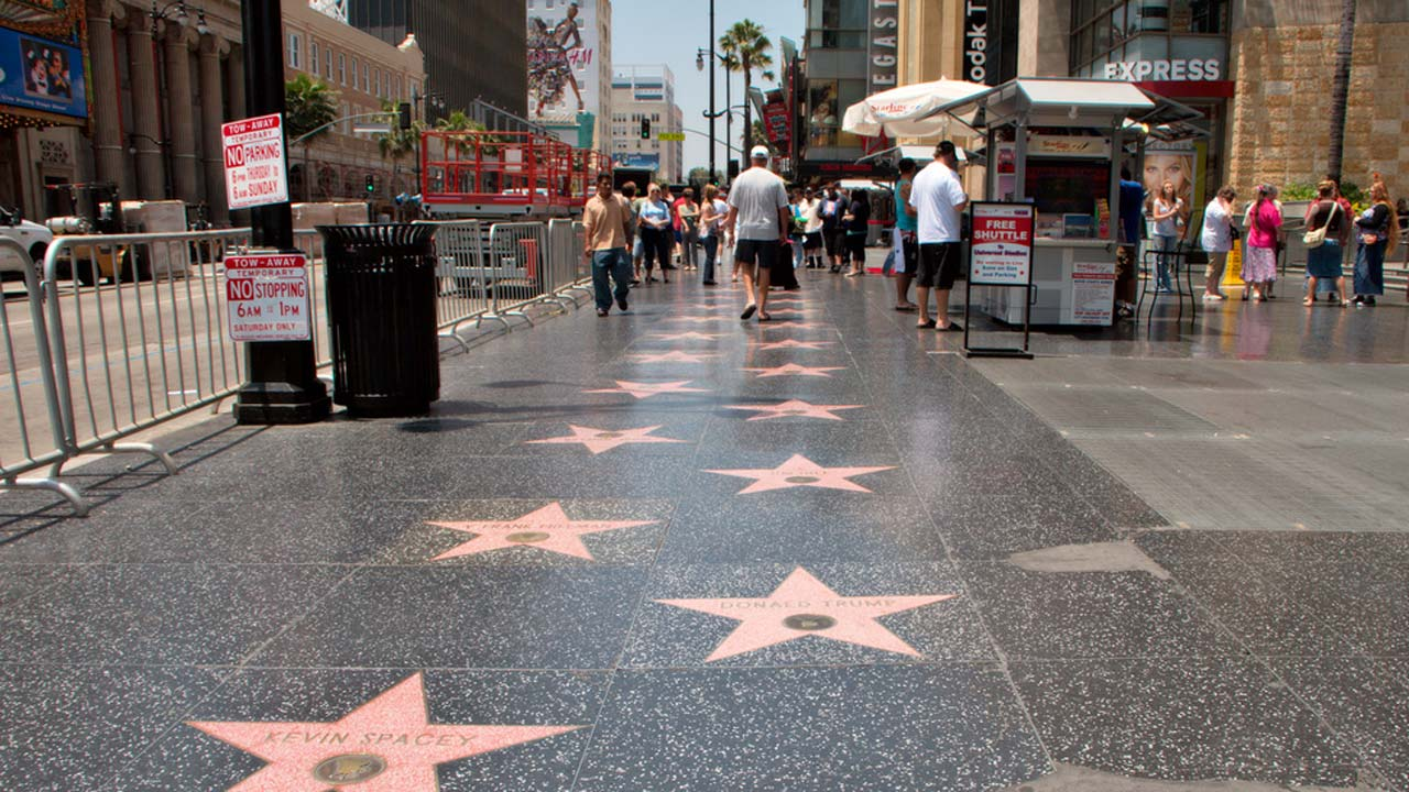 Hollywood 39 s walk of fame the biggest star of all for La city jobs
