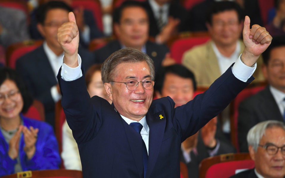 South Korea's liberal presidential candidate declared victor