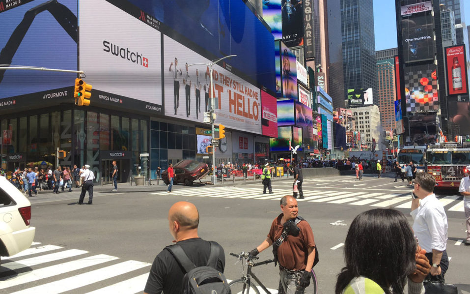 Multiple injuries as car hits people in New York's Times Square