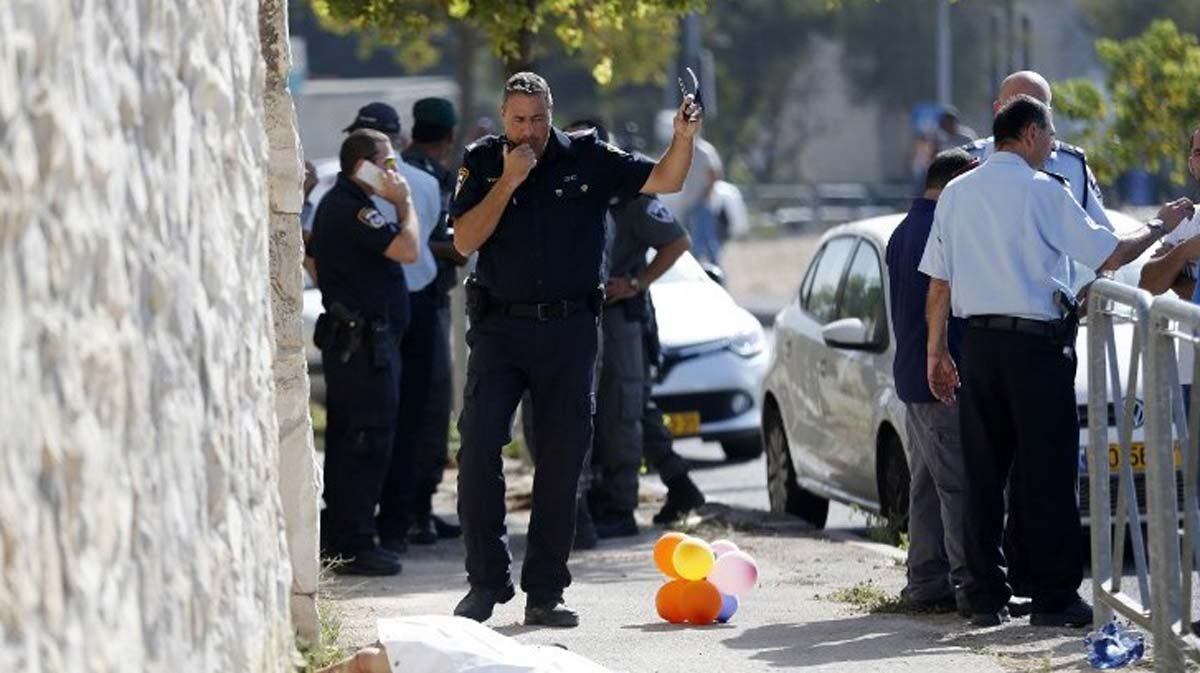Palestinian stabs Israeli officer in Jerusalem, shot dead