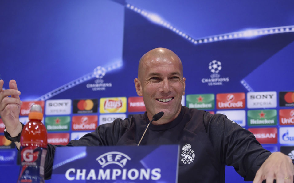 Champions League: Zinedine Zidane excited by