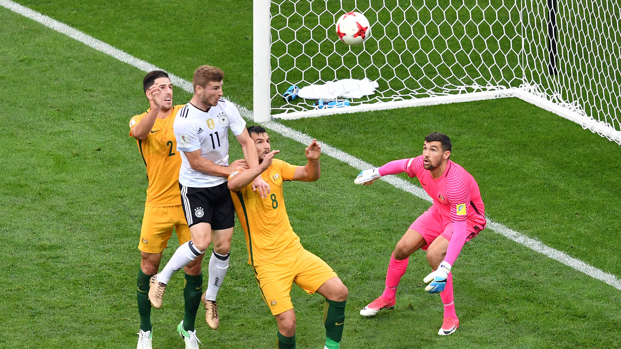 Youthful Germany squeeze past Australia