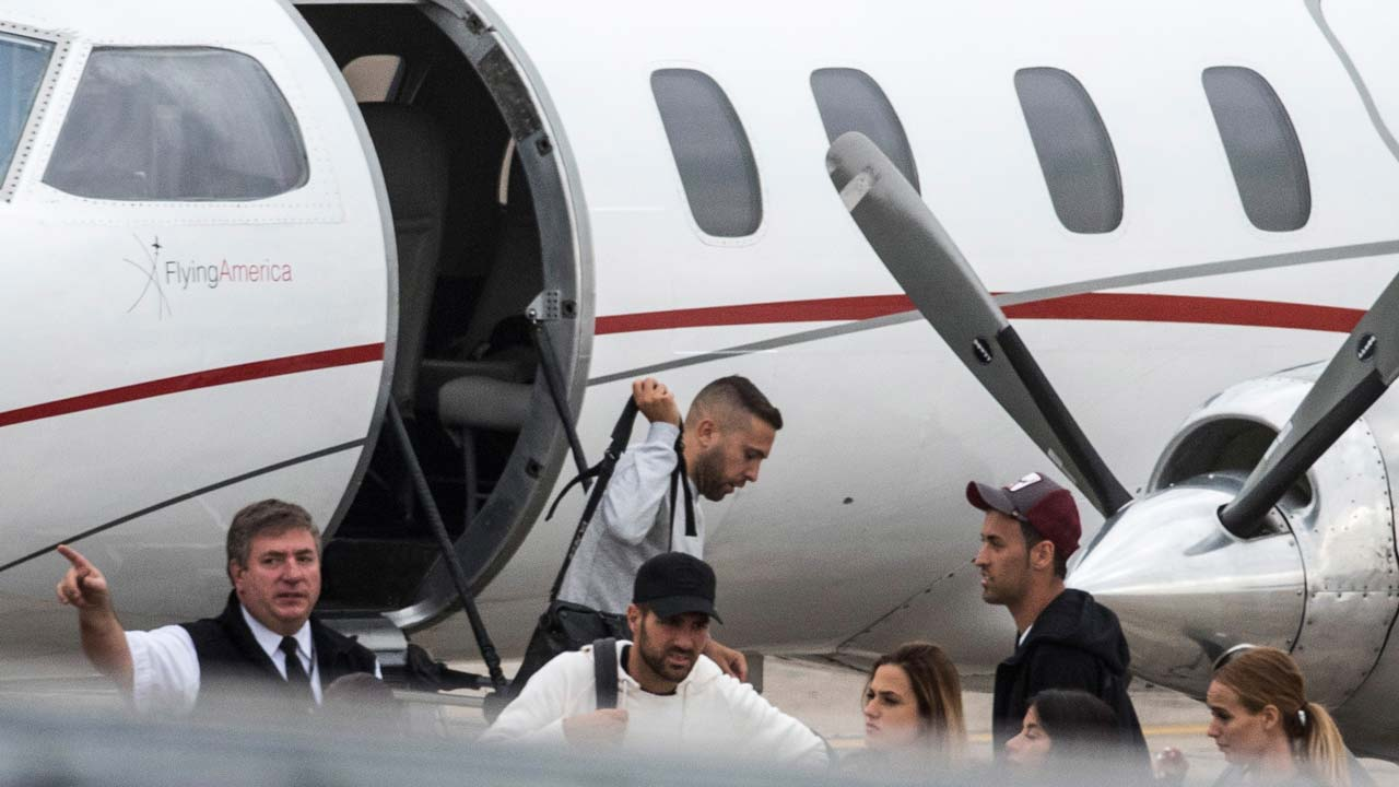 Image result for Football stars land in Argentina for Messi wedding