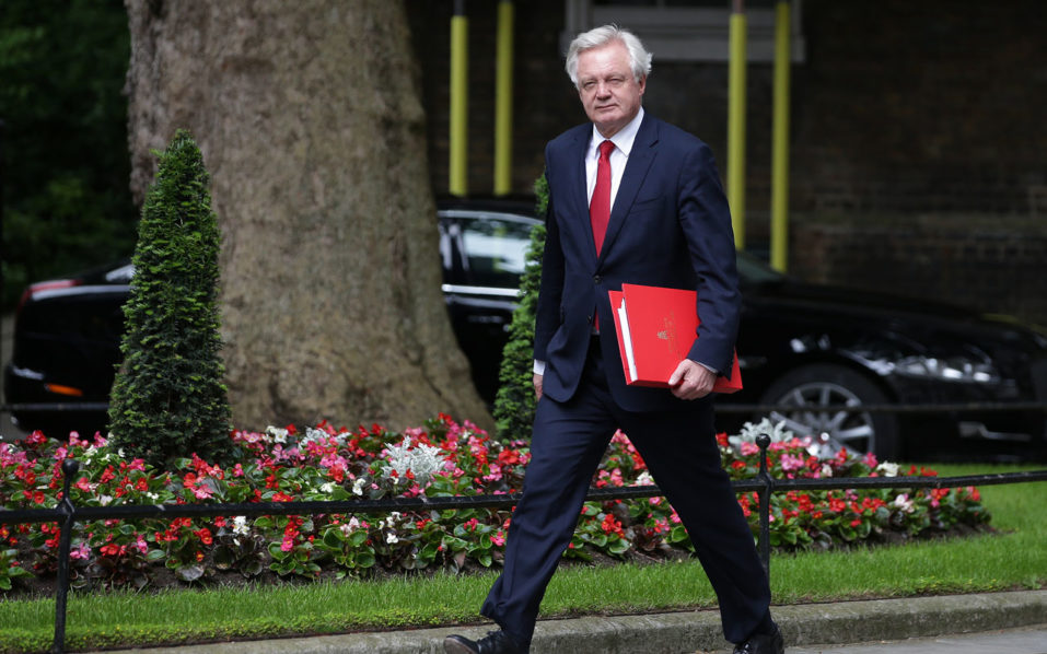 Britain's Secretary of State for Exiting the European Union David Davis.  AFP