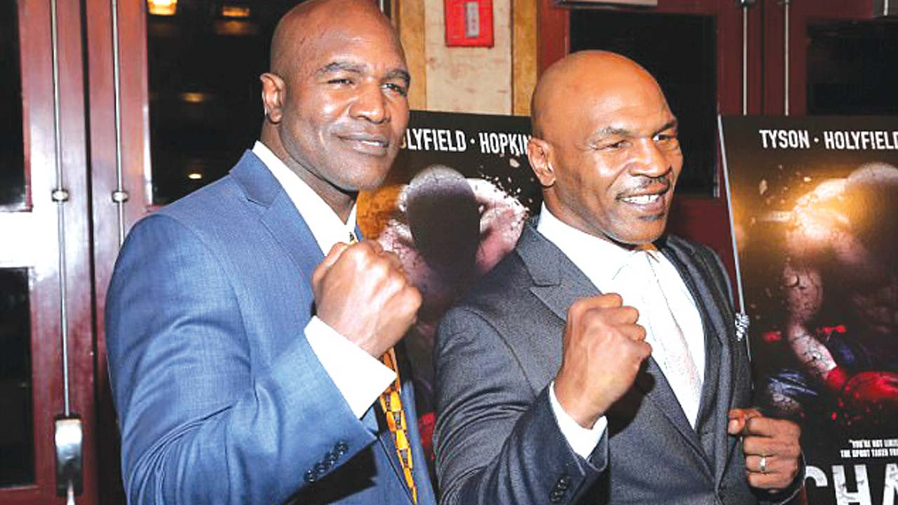 Tyson, Holyfield meet 20 years after ear bite fight in Las ...