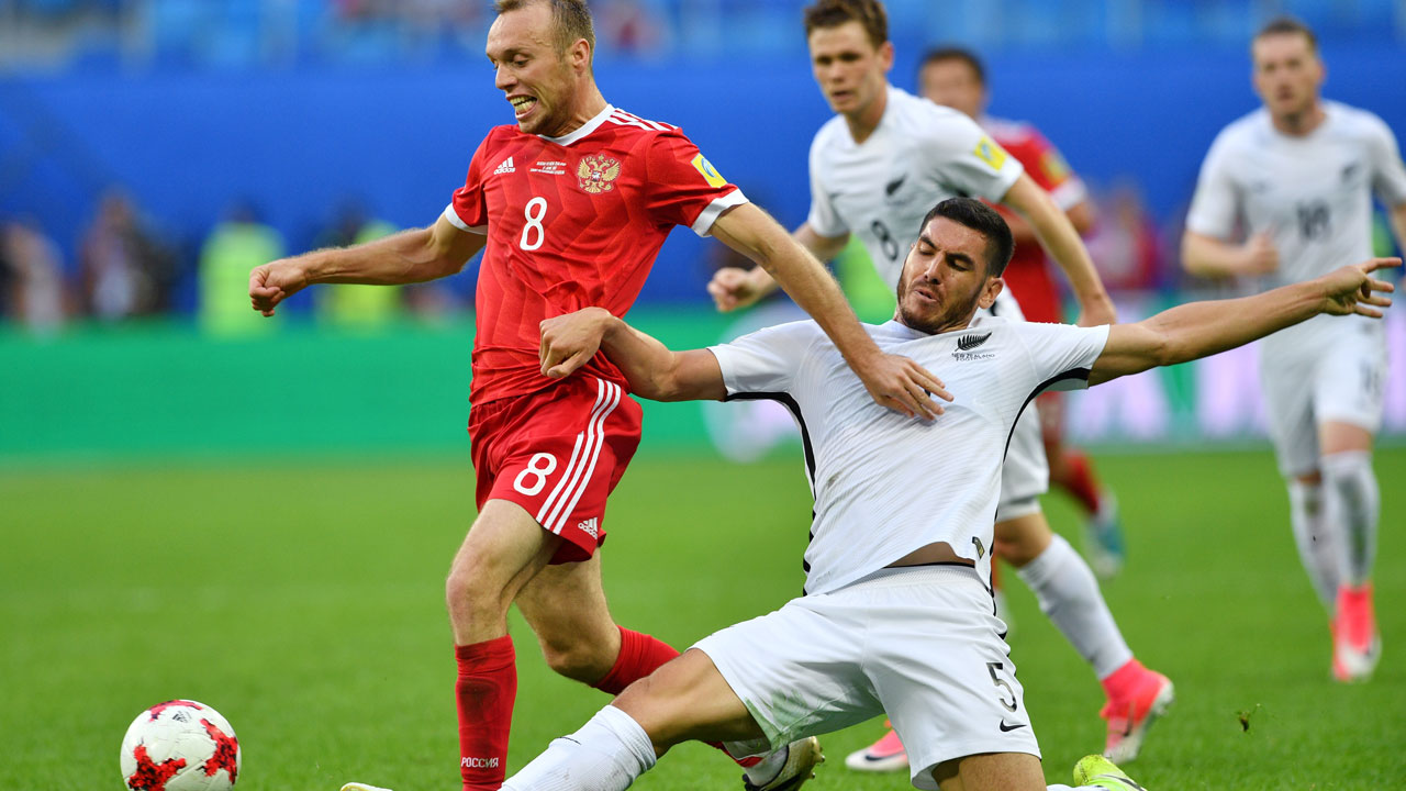 Russia beat New Zealand in Confederations Cup opener