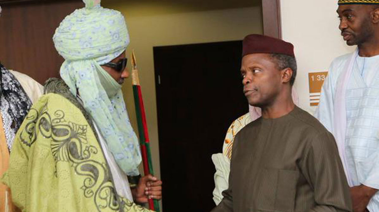 Osinbajo meets Sanusi, behind closed doors