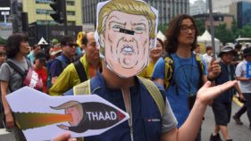 South Koreans march to protest US missile defence system