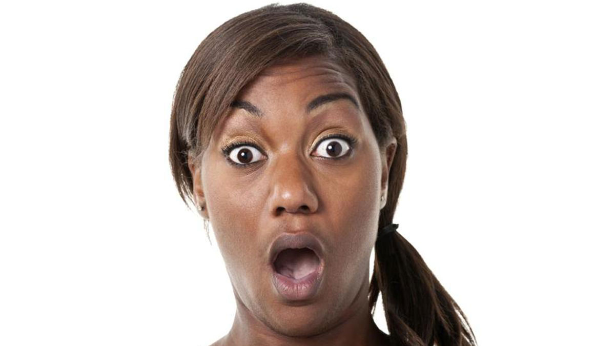 Image result for a lady with surprise face