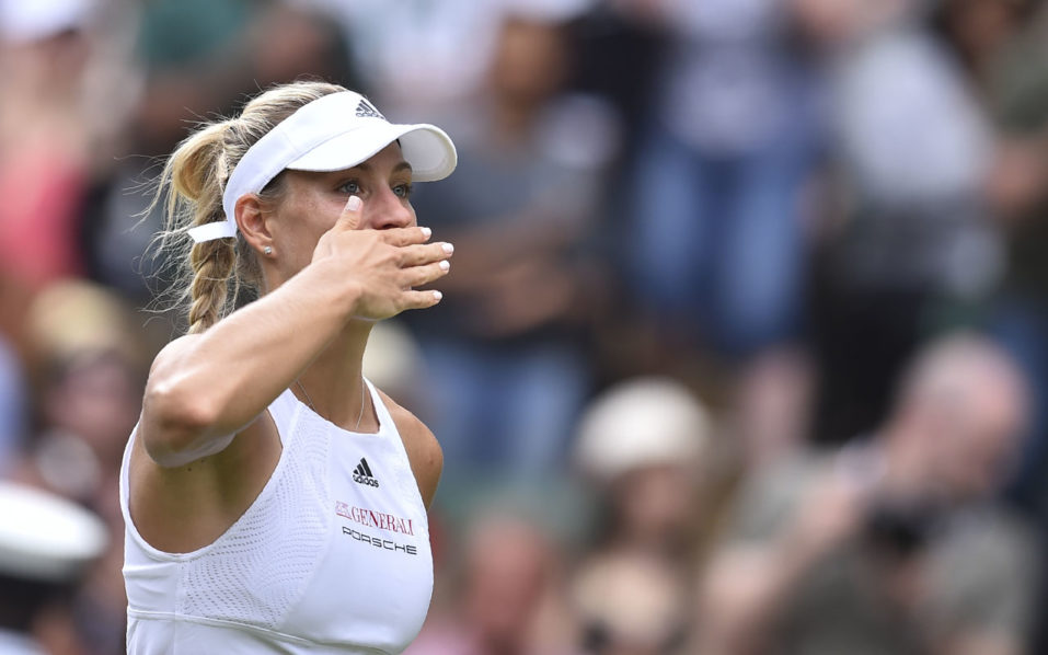 Wimbledon 2017: Angelique Kerber survives rocky opening test to reach Round 2