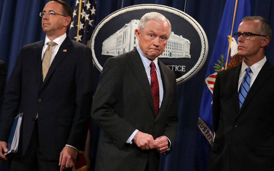 US Attorney General Sessions questioned in Russia probe