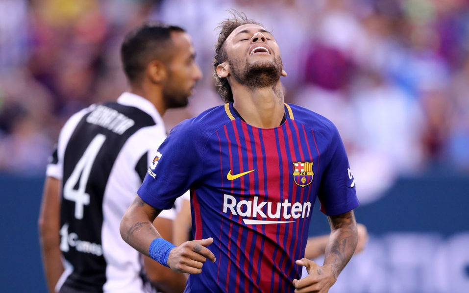 Barcelona star Neymar teases fans amid PSG speculation