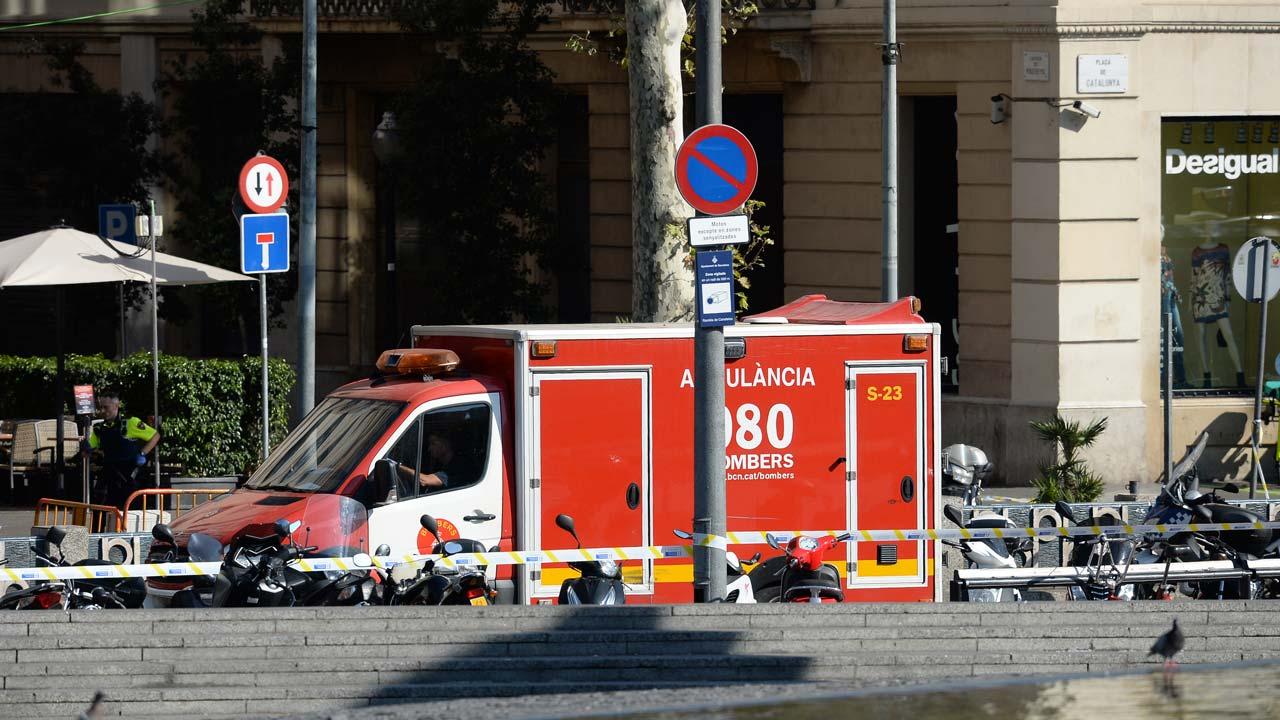 Two dead as van rams Barcelona crowd