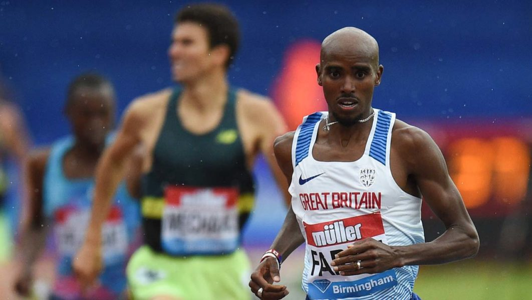 Mo Farah wins final track race in dramatic fashion
