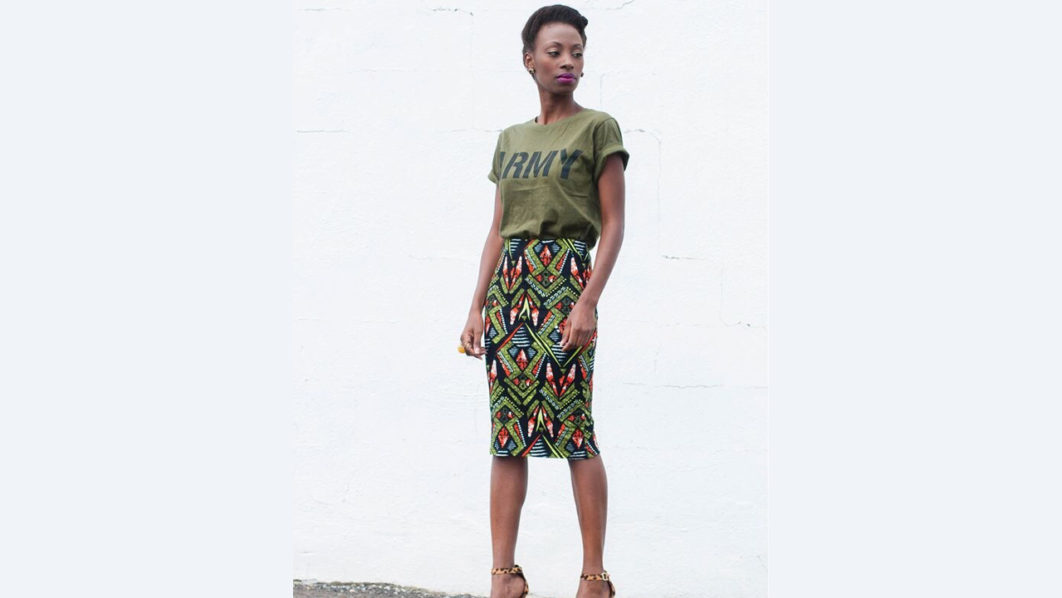 Different ways you can style your Ankara skirt