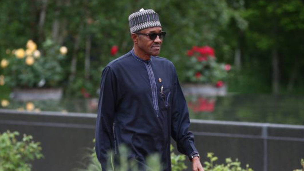 President Buhari is yet to arrive in Nigeria