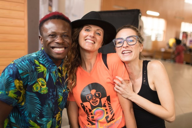 Kabuchi Michaels (wazobia TV) with Caterina Bortolussi and Francesca Rosset (Dare2Dream)