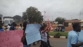 Image result for Students block Enugu-Onitsha expressway over alleged extortion, intimidation