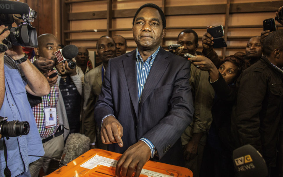 Zambia frees opposition leader Hakainde Hichilema