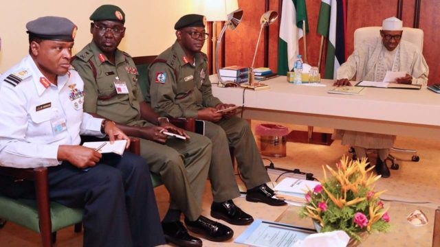 Calls for sack of service chiefs are 'out of place' - Presidency