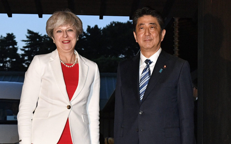Japan's PM backs the United Kingdom economy after Brexit
