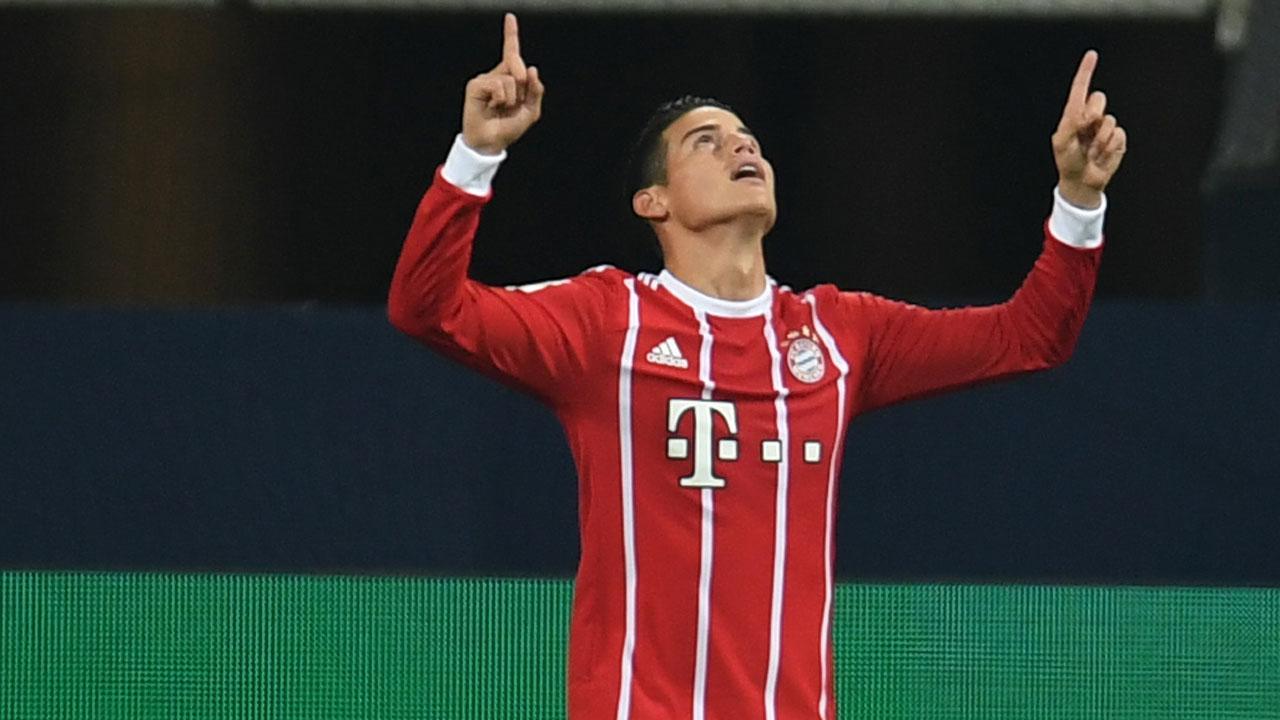 SPORT: James hits first Bundesliga goal as Bayern go top