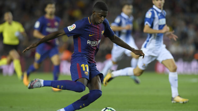 Dembele in first LaLiga start for Catalans since September