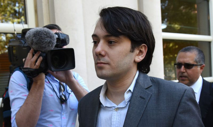 'Pharma Bro' Martin Shkreli jailed over Hillary Clinton hair bounty