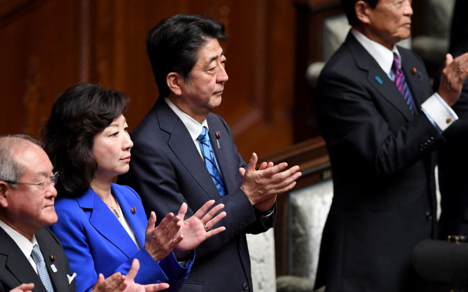 Japan's Abe kicks off 'difficult' election battle