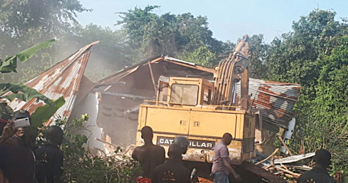 Police destroy six 'Badoo' shrines in Ikorodu, uncover coffins