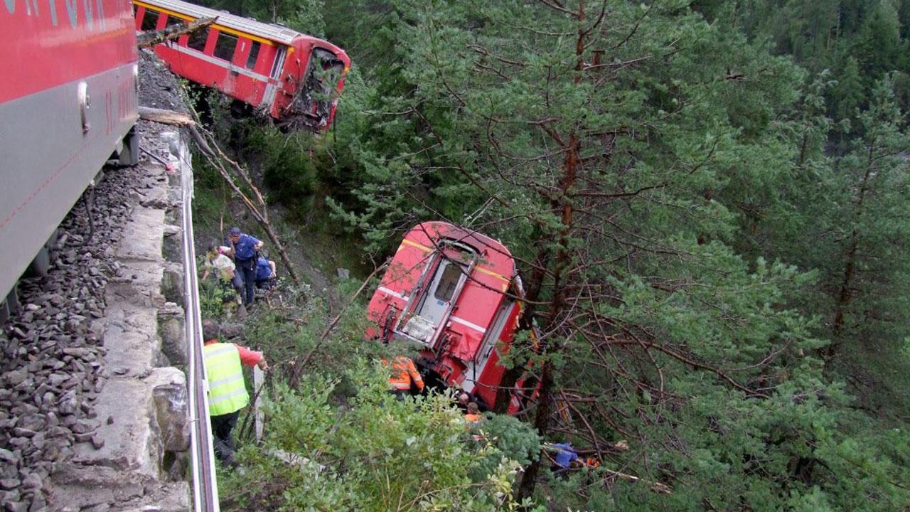 Several injured in Switzerland train collision