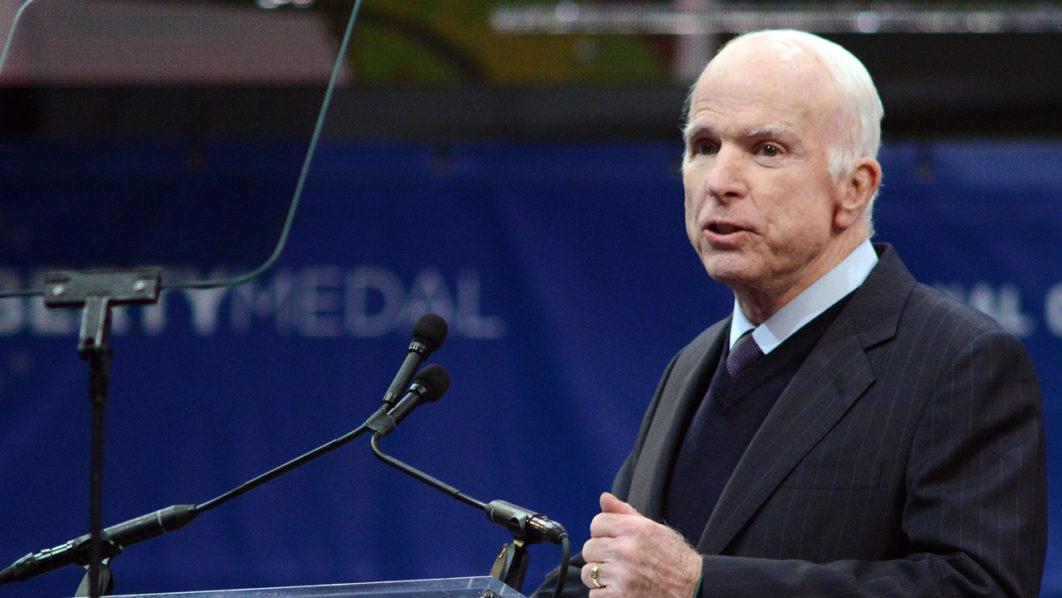 McCain takes swipe at Donald Trump's military service…