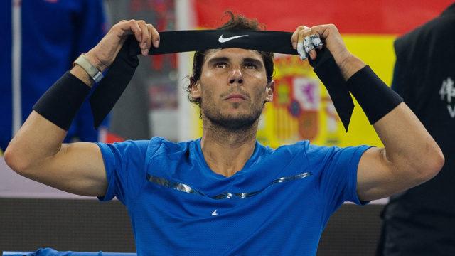 Tsonga, Wozniacki survive scare, Nadal through