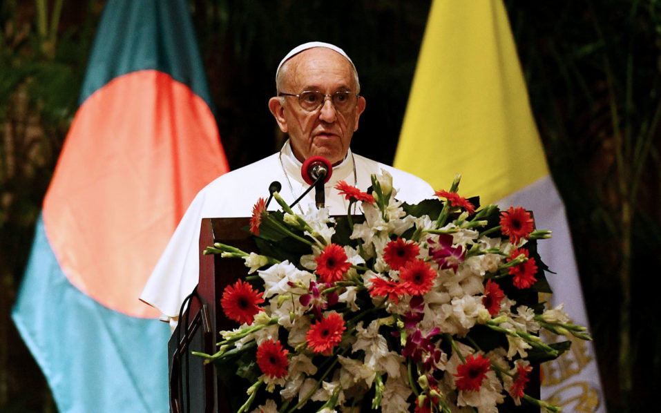 Bangladesh PM Hasina calls on Pope Francis