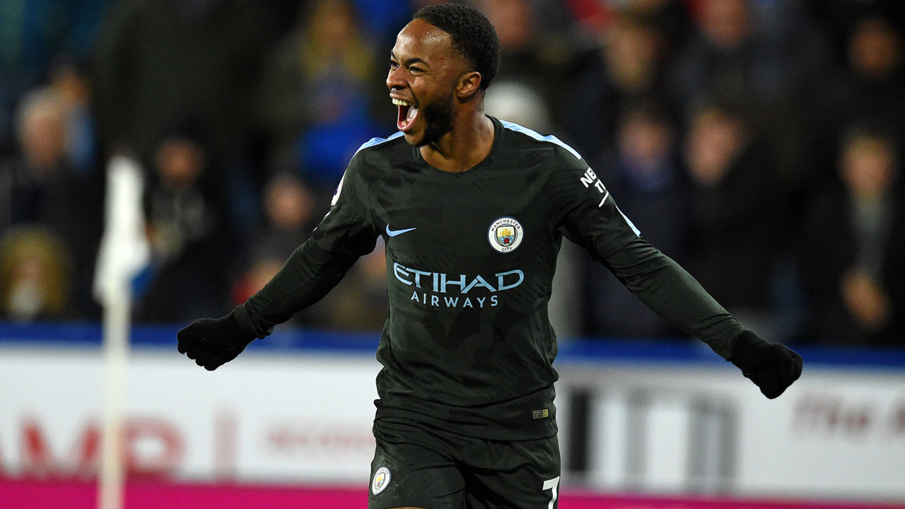 Sterling s late strike extend Manchester City s lead at the top