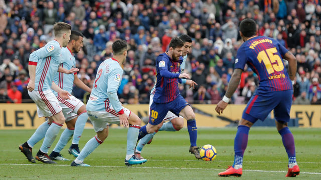 Barca slip in Celta thriller offers Real, Atletico hope
