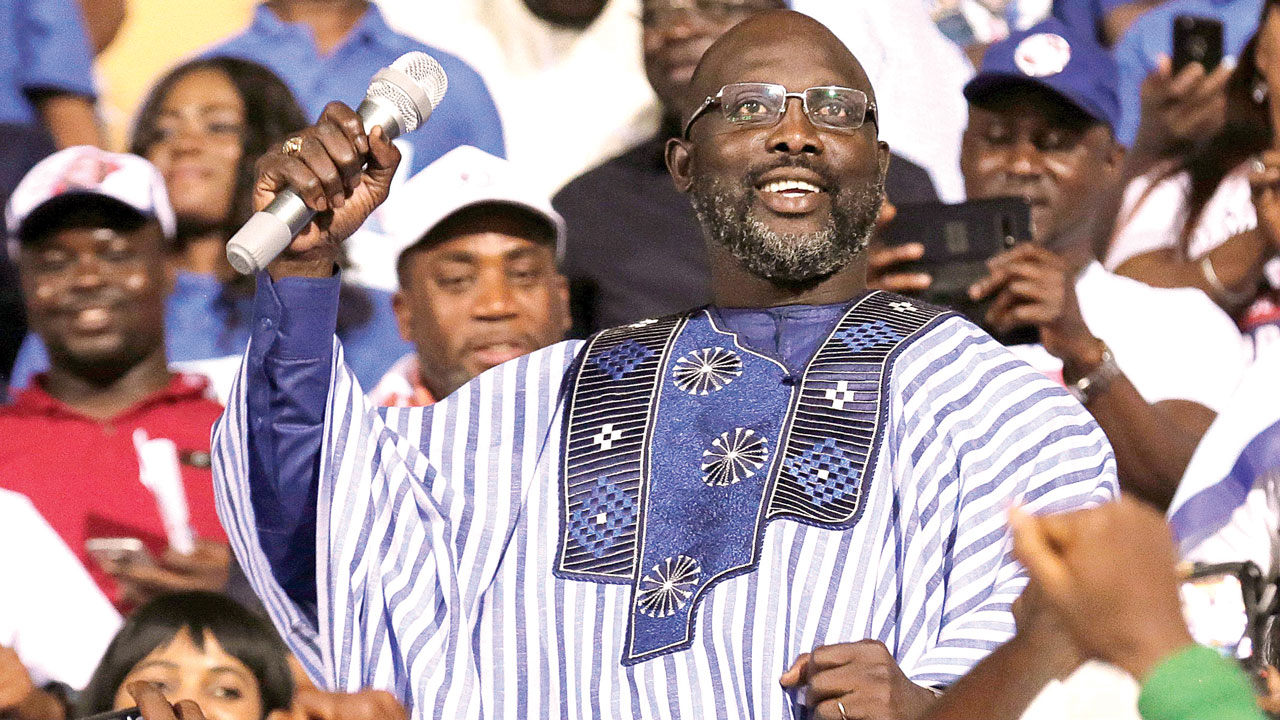 Former Milan, PSG player George Weah elected Liberia president by wide margin