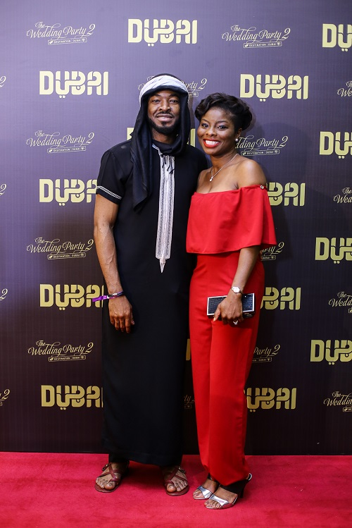 OC Ukeje And Wife At The World Premiere Of Wedding Party 2 Destination Dubai