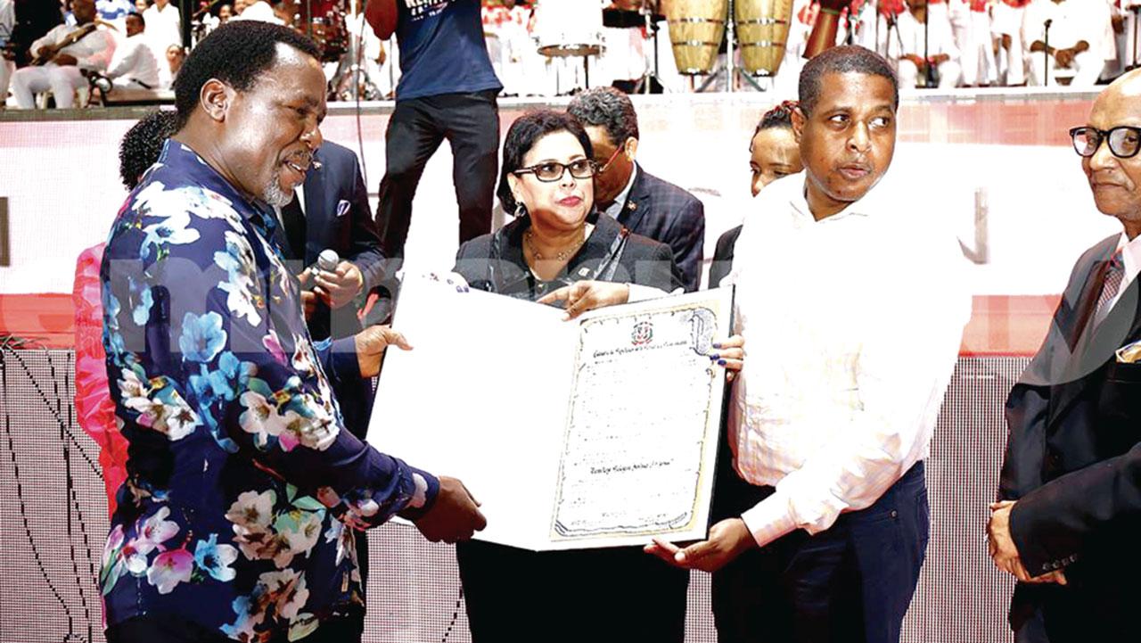 TB Joshua gets Dominican Republic's highest award | The Guardian Nigeria  News - Nigeria and World News — Nigeria — The Guardian Nigeria News –  Nigeria and World News