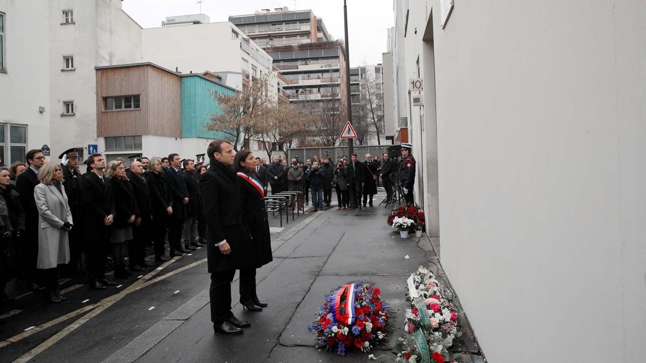 France marks three years since Charlie Hebdo attack