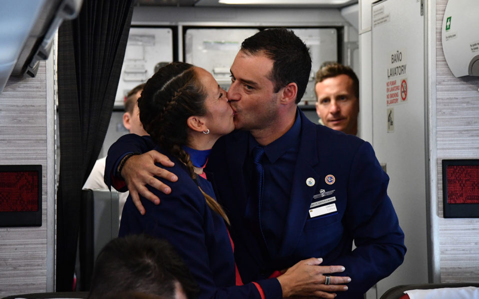 Pope marries couple on papal plane