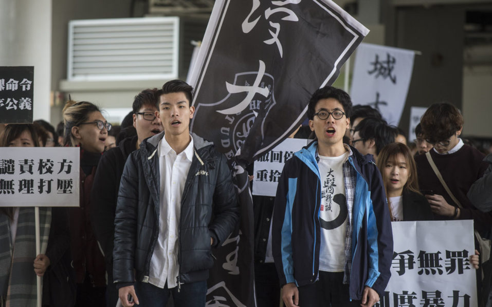 Students protest in Hong Kong over compulsory Mandarin